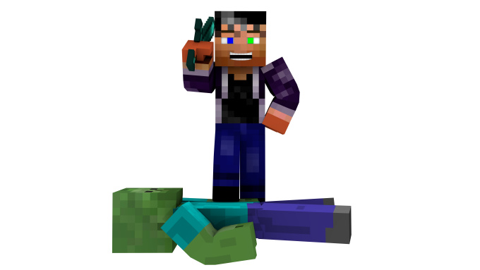 Create a 3d minecraft wallpaper with your skin - Minecraft wallpaper creator online ...