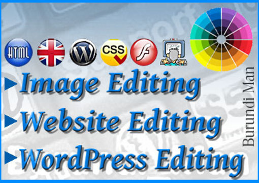 edit or fix your, html, wordpress, css, swf, audio, iframes, image files on your website