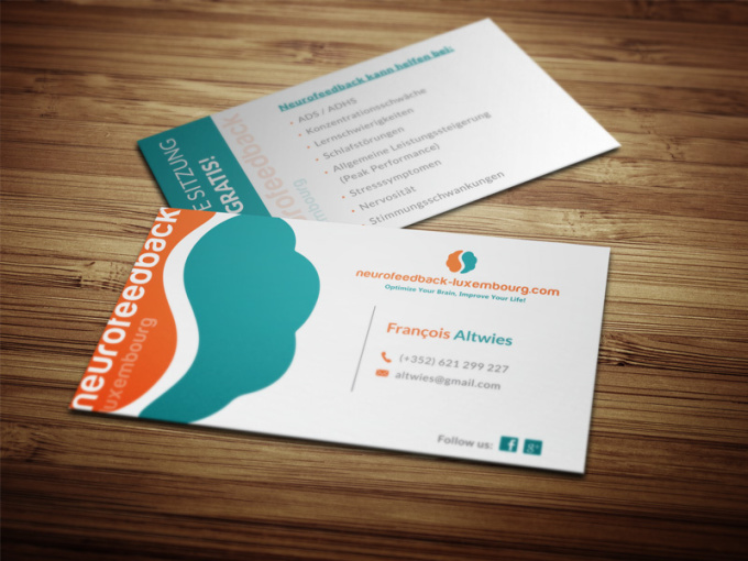 Do creative double sided business card eye catchy for Catchy business cards