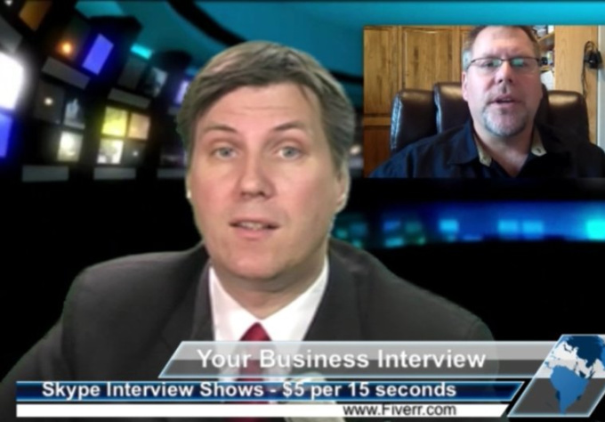 live interview you on a CNN style business show