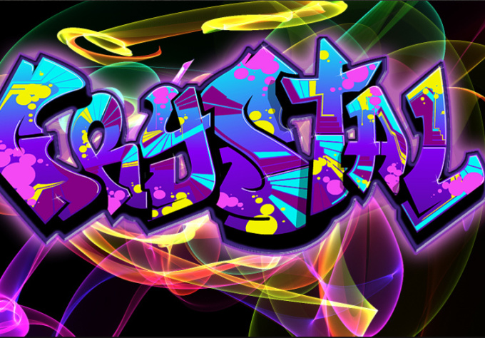 create an Urban Graphic Art pieces of a name/logo/phrase with an effect