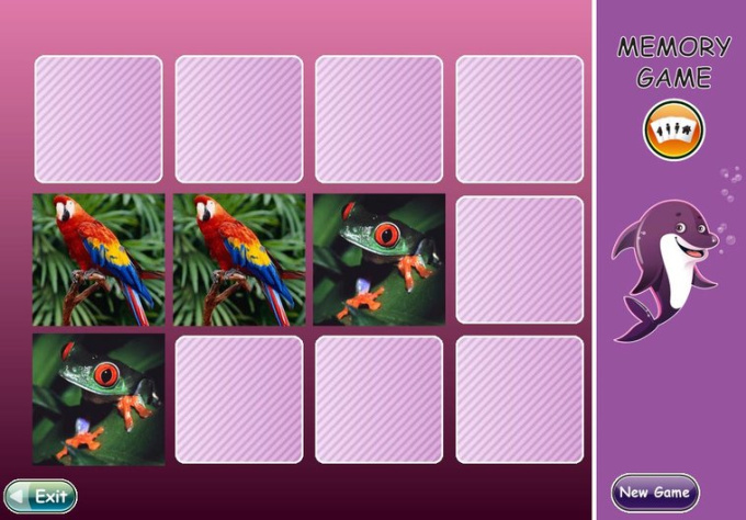 create a great Memory Game for children, which will speak to your child using his own name