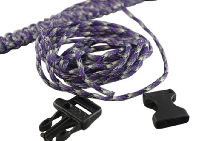 send you 2 paracord aka parachute cord bracelets