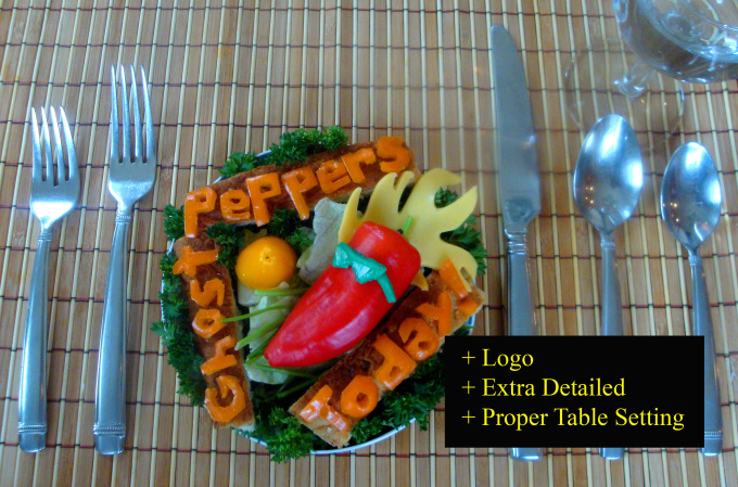 make you artwork out of food