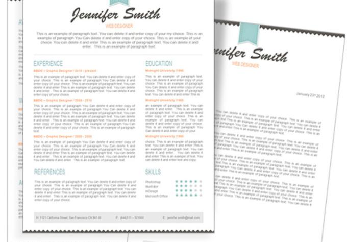 design a professional cv resume fiverr