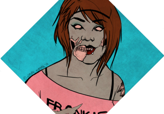 draw you as a supercool zombie