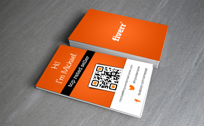 create a UNIQUE QRcode business card