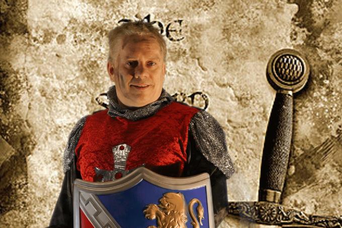 sing Happy Birthday Dressed As English Knight