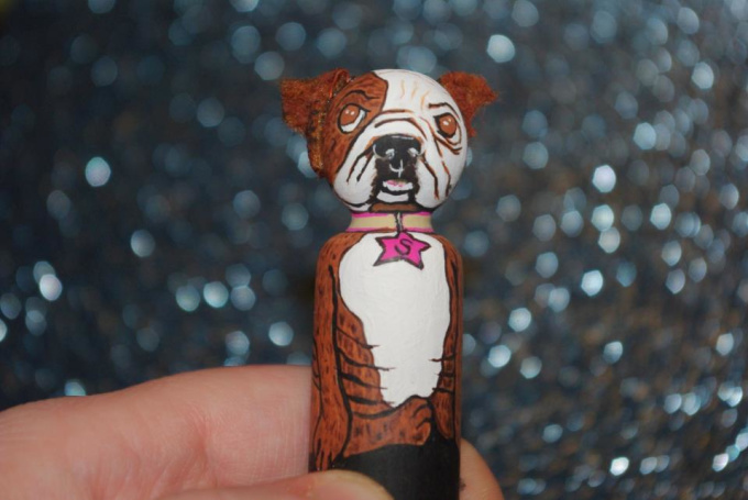 make a personalized, painted wood doll