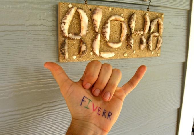 edit your message onto my hand in a Hawaiian Shaka