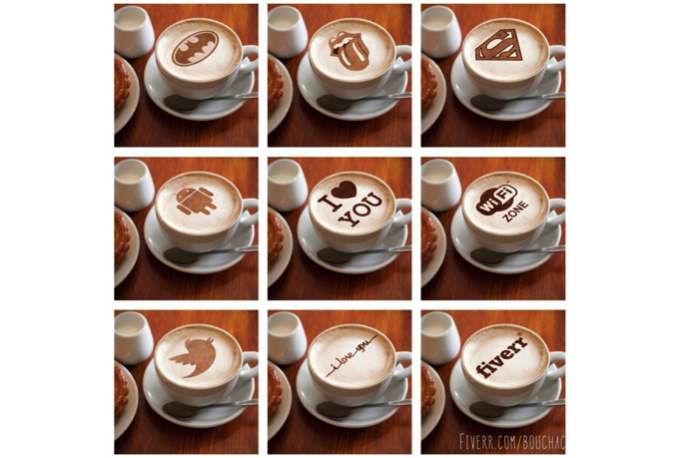 put your logo or message on COFFEE foam