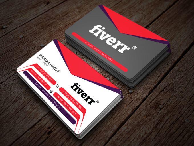 Design outstanding business card for you fiverr for Fiverr business cards