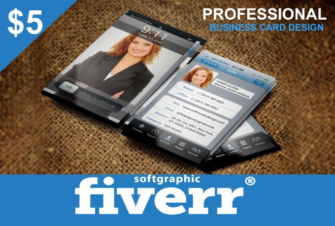 Design business card specially for vistaprint fiverr for Fiverr business cards