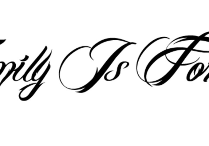 create a Tattoo font outline | Fiverr