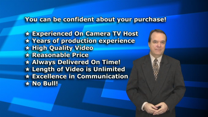 be your Professional Video SPOKESPERSON