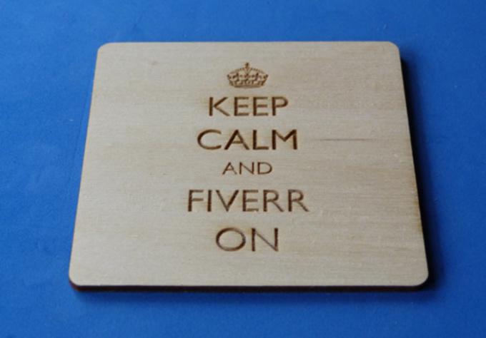 laser Cut a Custom Coaster