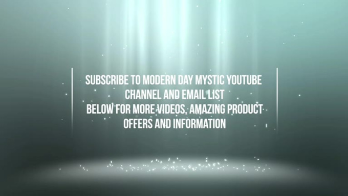 Subscribe to Modern Day Mystic YouTube channel and email list below for more videos, amazing product offers and information22
