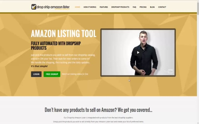 dropship amazon lister 3 adding products