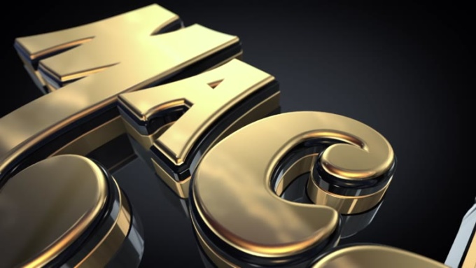 3D Gold Logo Full Intro HiREZ