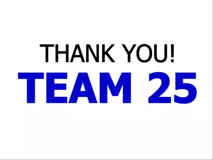 Thanks Team 25