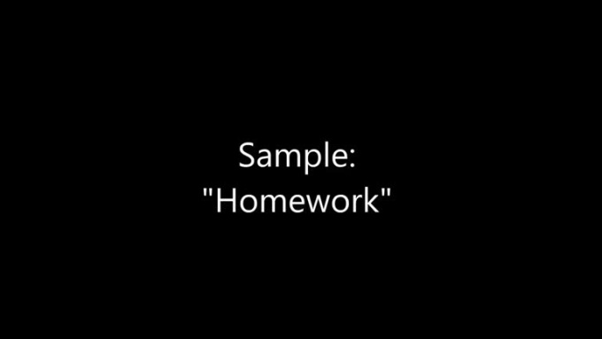 Homework_Sample_video