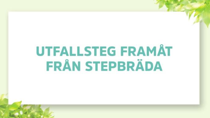 UTFALLSTEG FRAMÅT FRÅN STEPBRÄDA