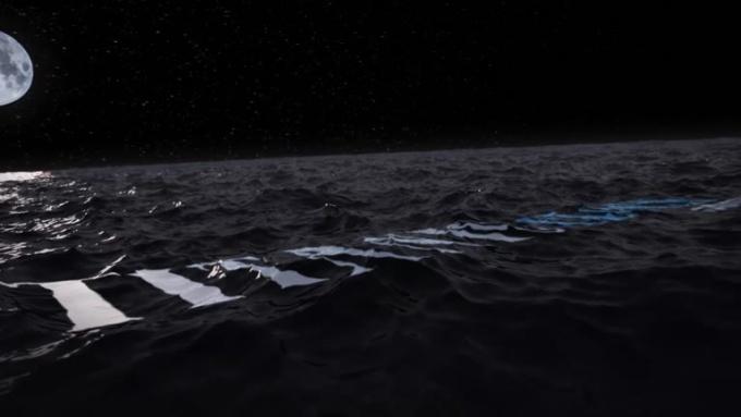 Titanic Clock-Ocean waterNIGHT logo animation SFX AEV