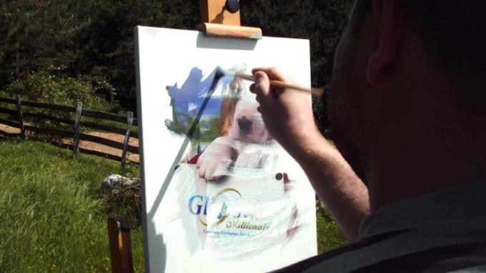 ציור כלב לוגו