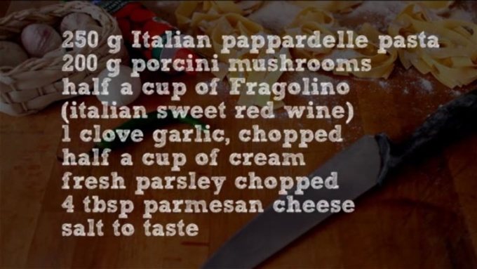 Pappardelle with Porcini Mushrooms-SD