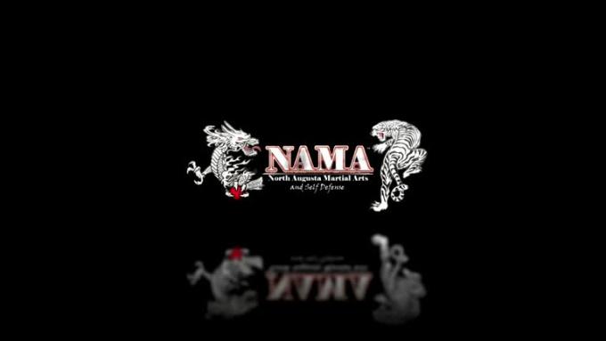 namadesk logo reveal white
