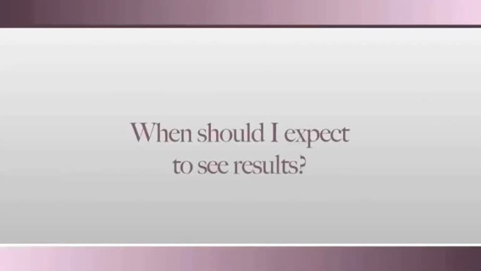 when can I expect to see results