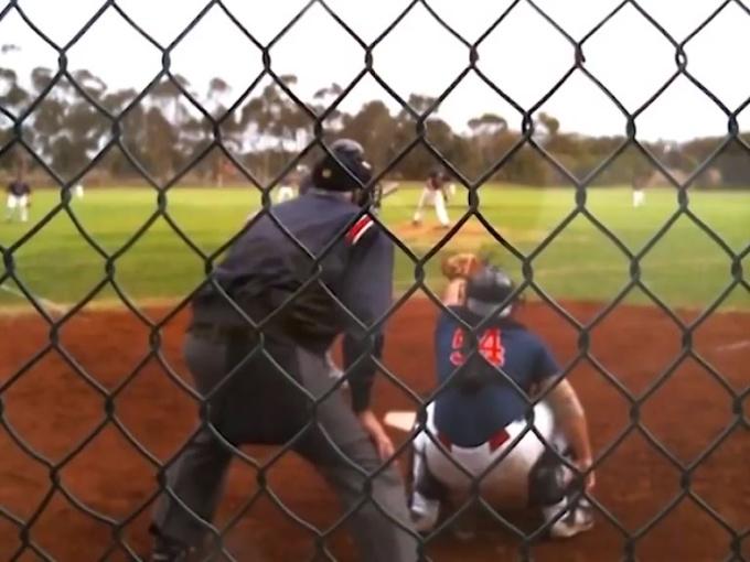Baseball pitchs color correction
