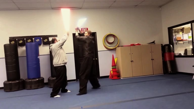 Lightsaber Fight with Sound