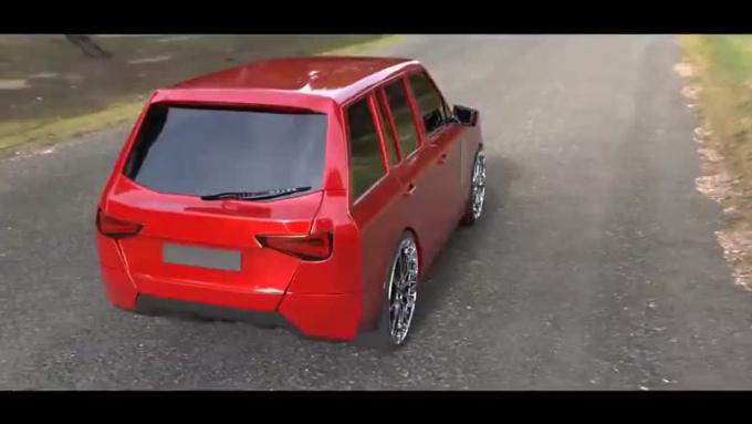 Custom Car With Rims