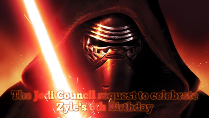 kylo ren Zyle birthday 720p