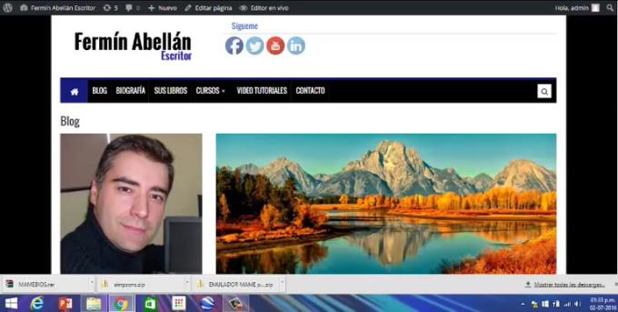 tutorial de edicion de paginas y vincular imagenes y texto a enlace de paginas externas
