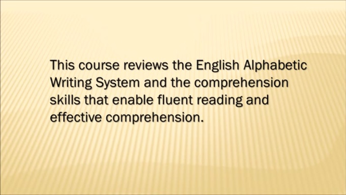 INTRODUCTION TO READING movie 2