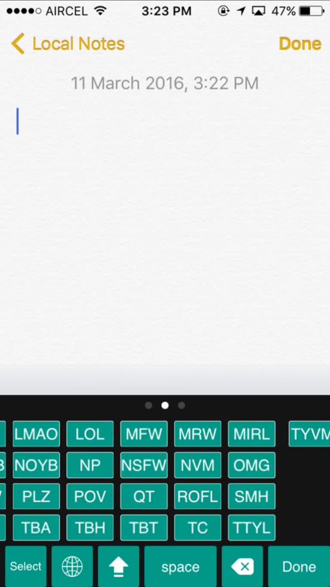 Slang Keys iPhone 5 & 6+  update1