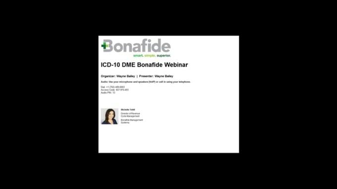 20150813_1100_ICD10_DME_Bonafide_Webinar_