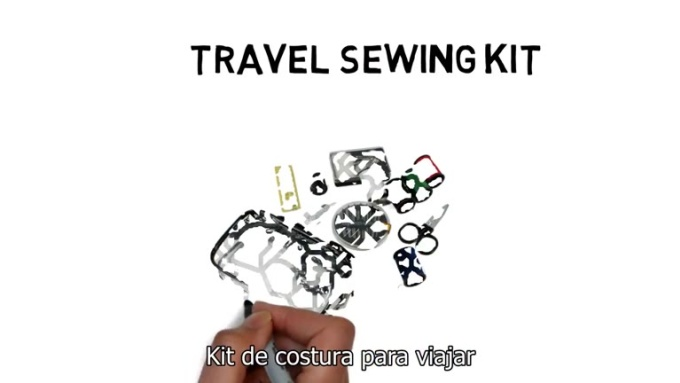 travel sewing kit - essential travel product - travel sewing kit_FR