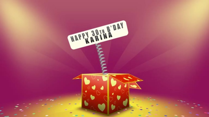 Happy bday karina video
