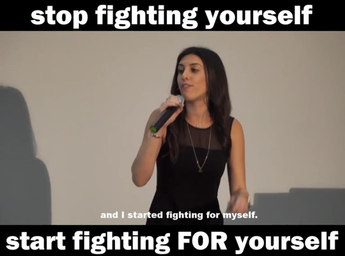 stopped fighting myself