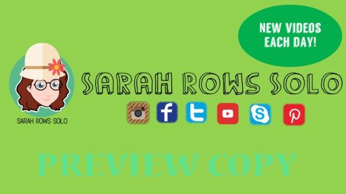 sarah rows solo