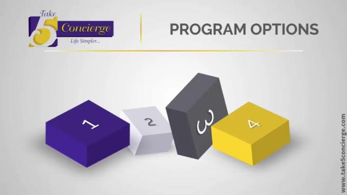 Take 5 Concierge - program options
