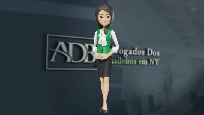 Animation cathy 3D 3 Bullet points 2