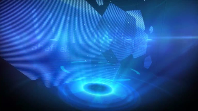 Logo Opener Holographic Animation