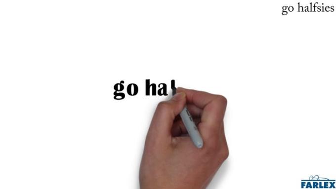 go halfsies