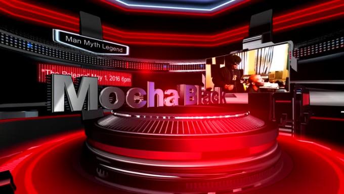 3D Arena Slides Presentation Mocha Black