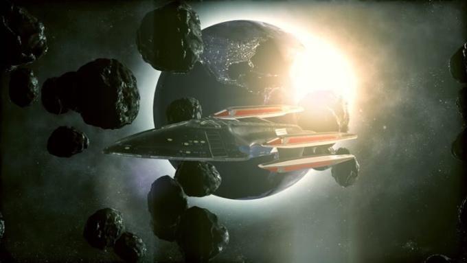 spaceship explosion