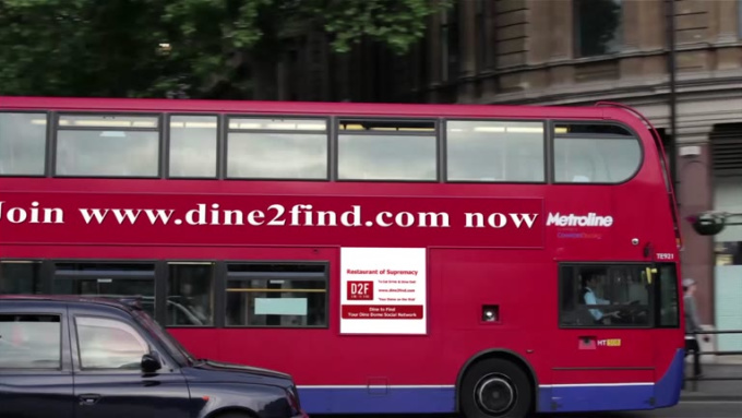 Dine2Find - bus ad clip